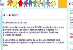 Extrait du site de l'Académie de Guadeloupe