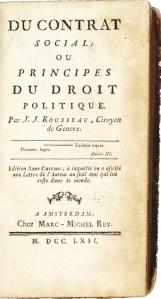 Page du Contrat Social de Rousseau, première édition 1762 Amsterdam