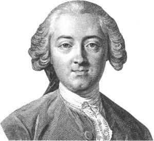 Helvétius (1715-1771) Gravure d'Augustin de Saint-Aubin d'après Michel van Loo.